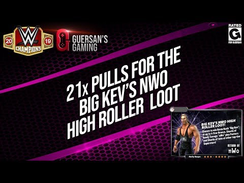 21x Pulls for the Big Kev's High Roller Loot / WWE Champions 🍀