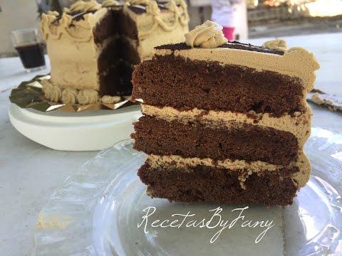 Tarta de Moka - Layer Cake - Café y Chocolate - Recetas By Fany