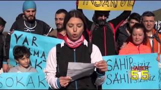 """SAMSUN'DA BİSİKLETÇİLER'DEN   """"SOKAK HAYVANLARINA DUYARLI DAVRANIŞ"""""""