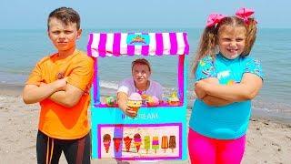 Ali & Adriana want to eat ice cream on the beach