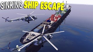 Surviving HUGE SHIP SINKING Helicopter Escape | Call to Arms Gameplay