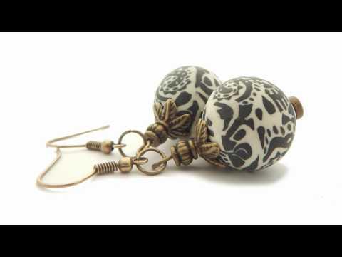 Ohrhaken mit Perlenkappe