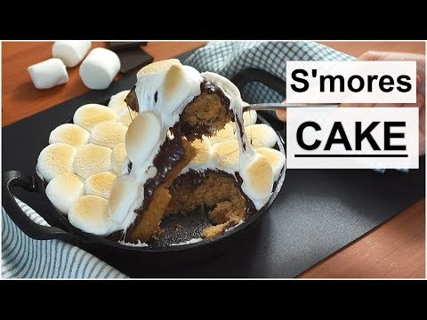 Hot & Gooey S'mores CAKE – S'mores Cake Recipe