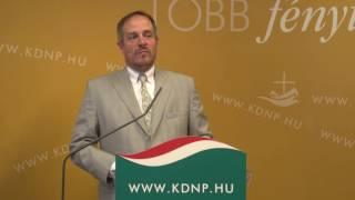 Harrach Péter és Hölvényi György sajtótájékoztatója – 2016. július 8.