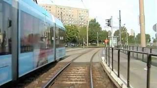 preview picture of video 'Führerstandsmitfahrt Straßenbahn Chemnitz (CVAG) - (Gablenz - Hutholz)'