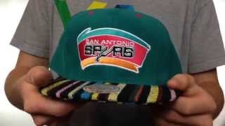 Spurs 'NATIVE-STRIPE SNAPBACK' Teal Hat by Mitchell & Ness