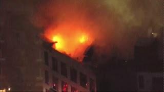 Dorchester, MA - Large Fire through Building Under Construction