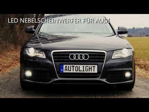 Umbau Anleitung LED Nebelscheinwerfer für Audi A4 B8 Limousine