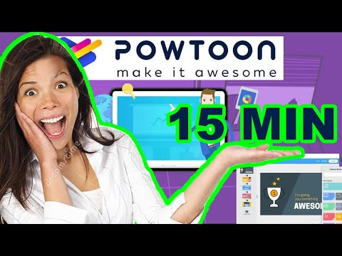 Animated video lessons in 15 minutes - Powtoon tutorial - How to create animated videos - Blue Brain