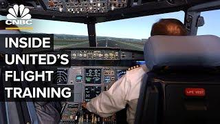 Como é a instrução de Pilotos pela United Airlines?