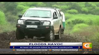 Hundreds of families displaced by the rains