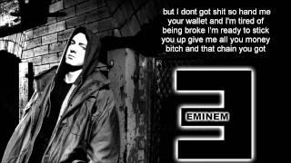 Eminem- Tired Of Being Broke Lyrics Video