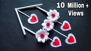 Paper Flower Wall Hanging | Easy Wall Decor Ideas |Newspaper Craft|Paper Craft Easy |Kalakar Supriya