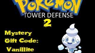Vanillite  - (Pokémon) - Pokemon Tower Defense 2 -  Mystery Gift Code - Vanillite