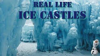 Real Life Frozen Ice Castles - Dillon Colorado
