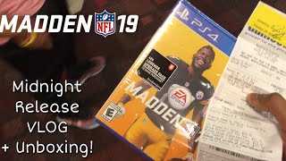 MADDEN 19 MIDNIGHT RELEASE VLOG + UNBOXING!