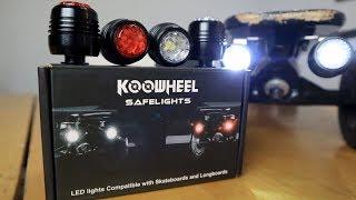 KOOWHEEL SAFELIGHTS Unboxing & Review. Universal Skateboard & Longboard Lights