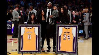 Kobe Bryant No.8 & No.24 Jersey Retirement In Los Angeles