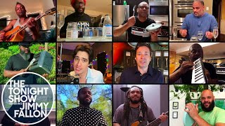 Jimmy Fallon, Brendon Urie & The Roots Remix Under Pressure (At-Home Instruments)
