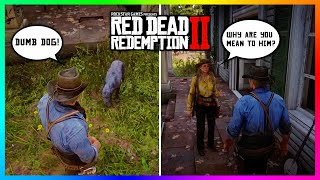 What Happens If Arthur Morgan Is MEAN To The Camp Dog In Red Dead Redemption 2? (RDR2 SECRETS)