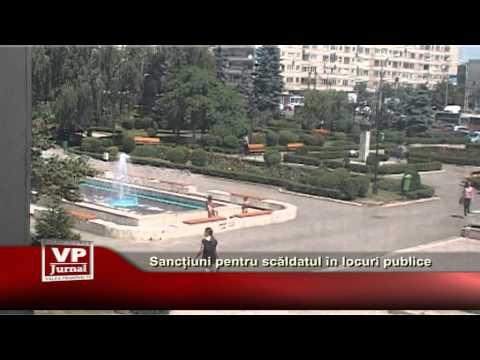 Sancțiuni pentru scăldatul în locuri publice