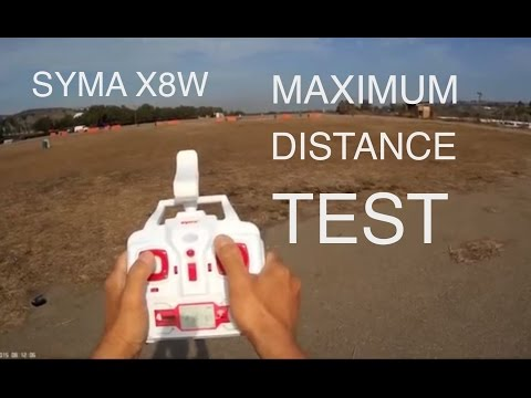 SYMA X8W MAXIMUM DISTANCE TEST ( BANGGOOD )