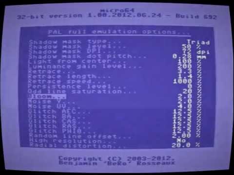 Micro64 PAL and CRT monitor emulation