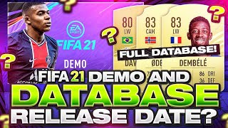 FIFA 21 DEMO AND DATABASE RELEASE?! FIFA 21 Ultimate Team
