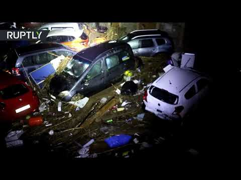 Cars overturned: Aftermath of flash flooding on Mallorca that left 9 dead
