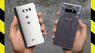 LG V30 vs. Galaxy Note 8 Drop Test!