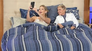 Ellen And <b>Kate Hudson </b>Snapchat Together In Bed
