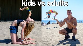 KIDS vs ADULTS All Star Gymnastics Challenge