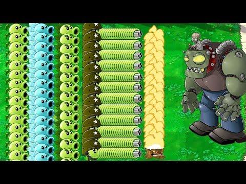 All Pea PvZ vs Giga-Gargantuar Plants vs Zombies H | Youtube