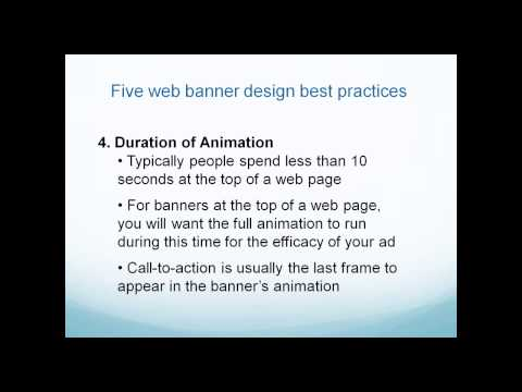 Create My Banners Webinar - Jan 20, 2014 - Design Tips for Web Banners