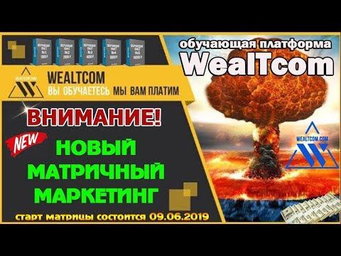 НОВЫЙ МАТРИЧНЫЙ МАРКЕТИНГ В WealTcom - Как заработать в интернете быстро! СТАРТ 09.06.2019