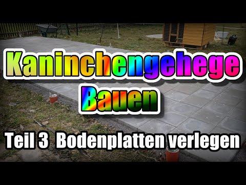 #3 Muster-Kaninchengehege: Bodenplatten verlegen