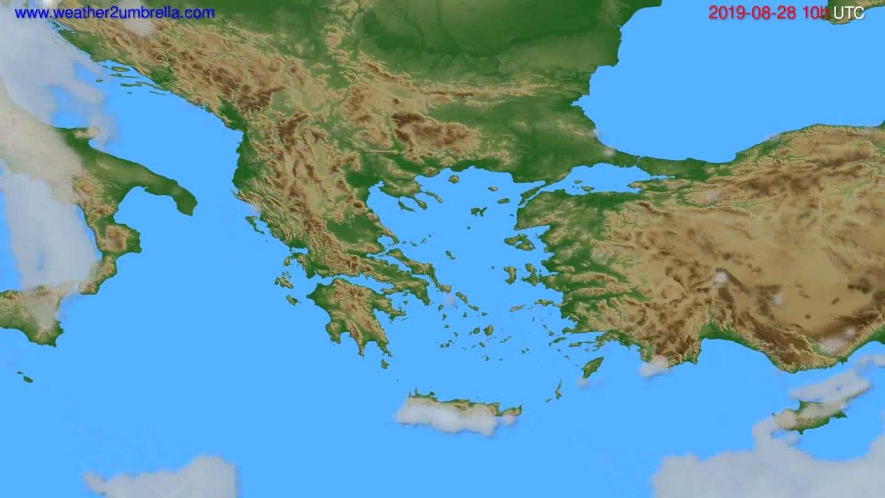 Cloud forecast Greece // modelrun: 00h UTC 2019-08-26
