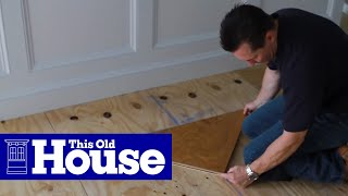 How To Install A Herringbone Floor | This Old House