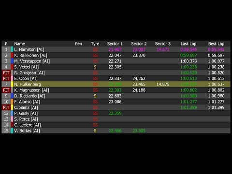 F1 2017 e F1 2018 - Tutorial Telemetria UDP - смотреть онлайн на Hah