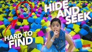 HIDE AND SEEK AT TRAMPOLINE PARK!! (HARD TO FIND) | Ranz and Niana