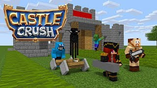 Monster School : CASTLE CRUSH CHALLENGE - Minecraft Animation