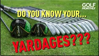 HOW WELL DO YOU KNOW YOUR DISTANCES??? Golf Monthly