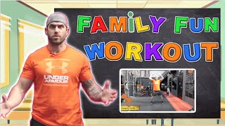 Fun Family Workout At Home (PE For Everyone)