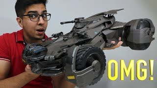 UNBOXING & LETS PLAY! - Ultimate Justice League BATMOBILE  - 1/10 RC movie car - FULL REVIEW!