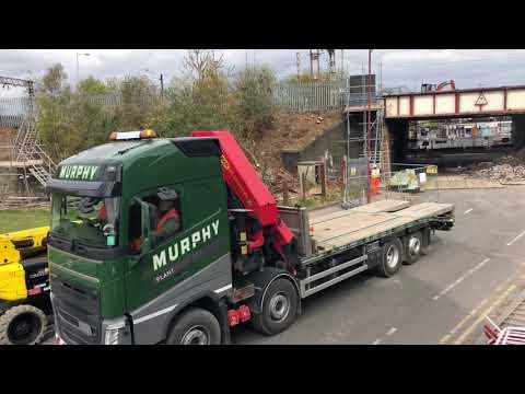 Removal of Church road Rail bridge, Garston Liverpool