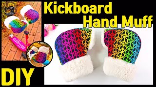 DIY Kickboard Hand Muff/ How To Make A Kickboard Hand Muff/킥보드장갑만들기/킥보드핸드머프