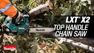 "MAKITA 18V X2 (36V) LXT® Brushless 14"" Top Handle Chain Saw - Thumbnail"