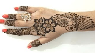 Best Ornament Unique Arabic Henna Mehndi:Stylist Mehendi Designs For Hands(Step By MehndiArtistica)