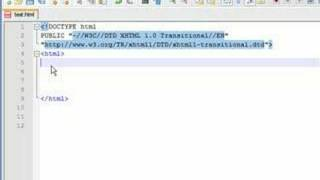 XHTML Tutorial - 1 - Adding a title and body text to a webpage