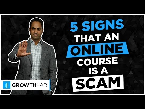 5 signs that an online course is a scam - YouTube